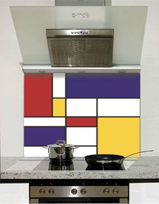 Picture of Mondrian Squares Glass Splashback (standard size)