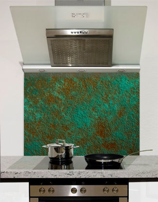 Picture of Oxidised Copper Glass Splashback (standard size)