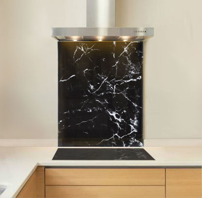 Picture of Black Marble Splashback