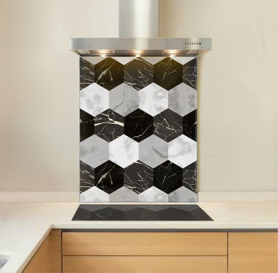 Picture of Marble Hexagons Splashback