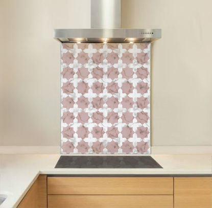 Picture of Pink Marble Star Splashback