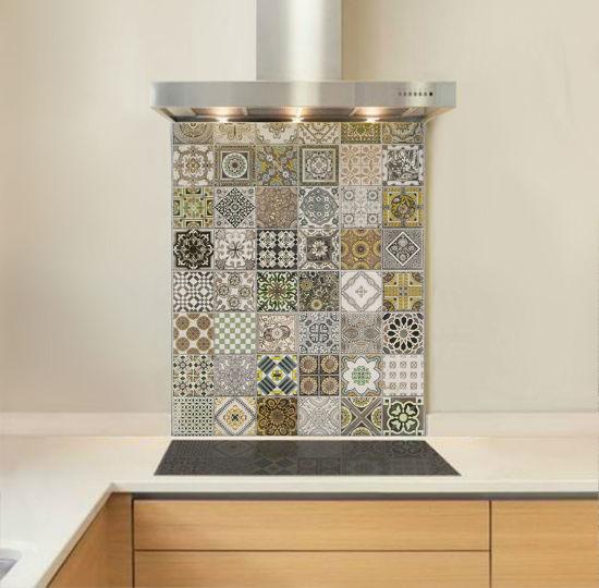 Picture of Saffron Minton Style Tile Splashback