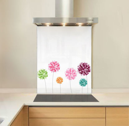 Picture of Abstract Flowers Splashback