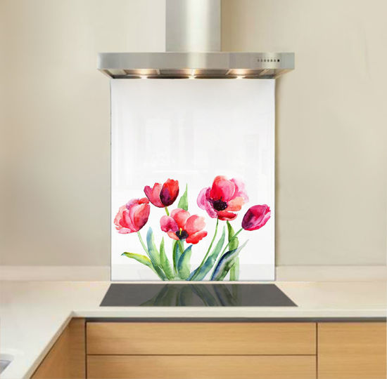 Picture of Watercolour Tulips Splashback