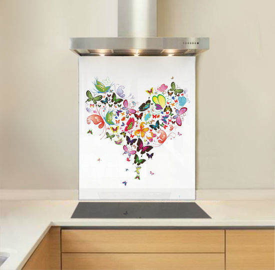 Picture of Heart Butterfly Splashback