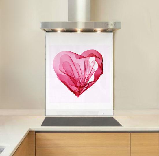 Picture of Pink Silk Heart Splashback