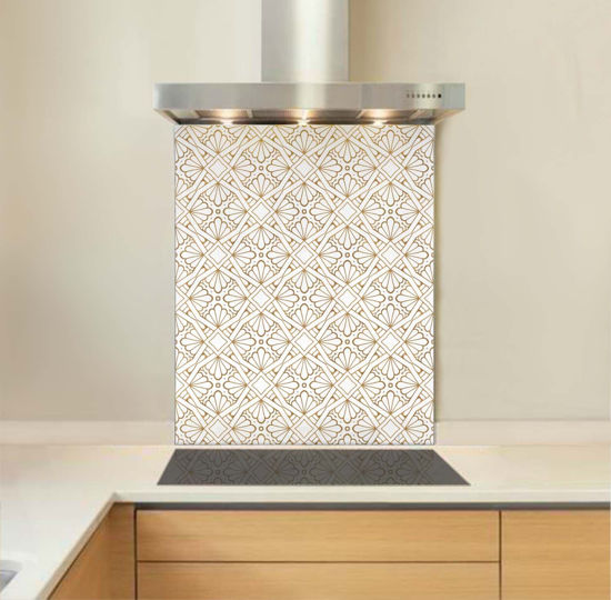 Picture of Metallic Fretwork Splashback