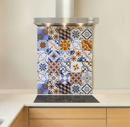 Picture of Multi Encaustic Tiles Splashback (standard size)