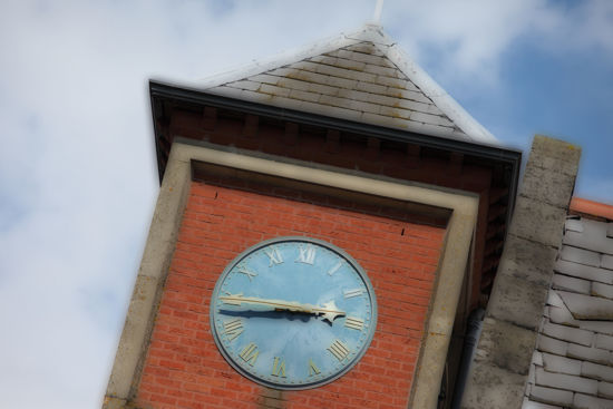Picture of Clock Tower Glass Kitchen Splashback
