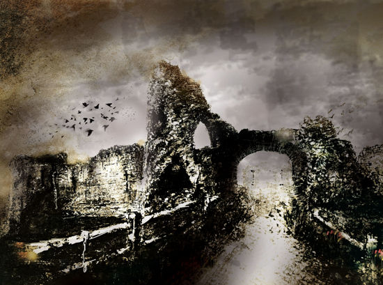 Picture of Pevensey Castle  Glass Kitchen Splashback