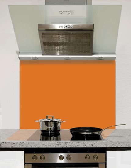Active Orange Glass Splashback