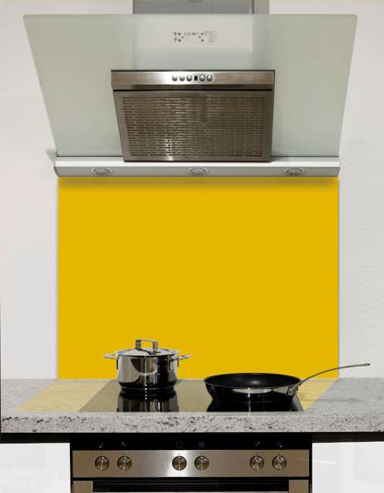 Molten Yellow Glass Splashback