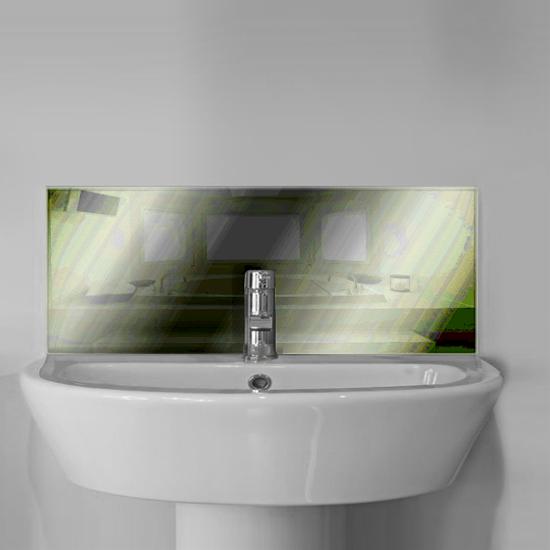 Coloured Glass Bathroom Sink Splashbacks
